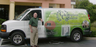 When you sign up for our dry cleaning and laundry services you get free pickup and delivery too only from Champion Cleaners