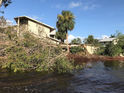 cleaning up after hurricane naples, estero, fl
