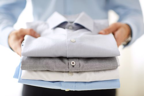 Professional Laundry Services delivering clothes that are clean and folded