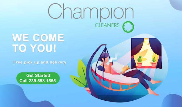 Free laundry delivery in Naples, FL