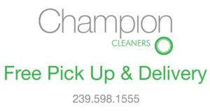 free pick up and delivery laudry, dry cleaning services in Naples, FL