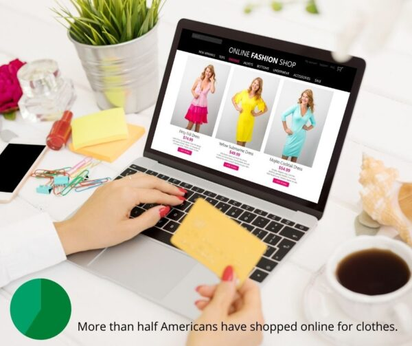 Online clothes shopping graphic