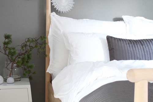 Home cleaning tips for bedrooms such as this one